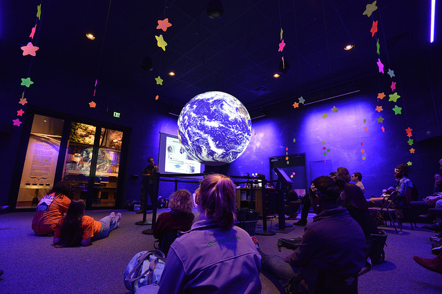 Wild Center's Planet Adirondack, NOAA Science on a Sphere (SOS)