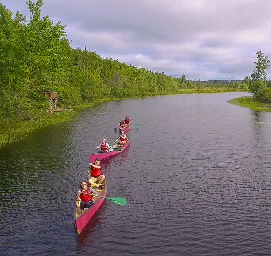 canoes on the Oxbow