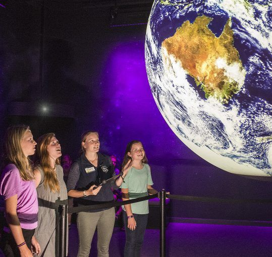 visitors view real time data on Planet Adirondack