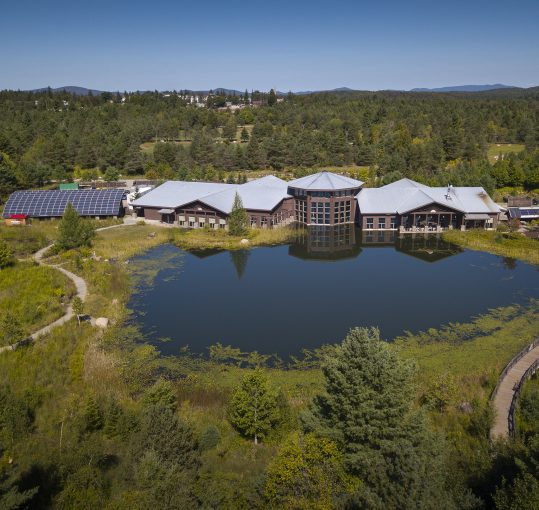 Aerial view of The Wild Center